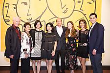 Harvey and Carol Ann Mackay, Jojo Herzig, Tali Mackay, David Mackay, Katherine Mackay, Mimi and Michael Bartimer