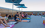 Roof Top Yoga at Lustre Rooftop Garden
