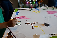 Girl Scouts cookie event mural painting