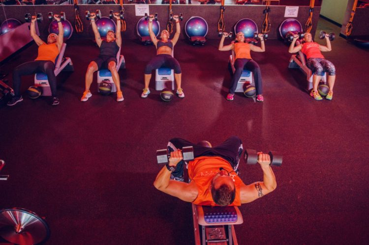 Orange Theory-Dumbbell Press