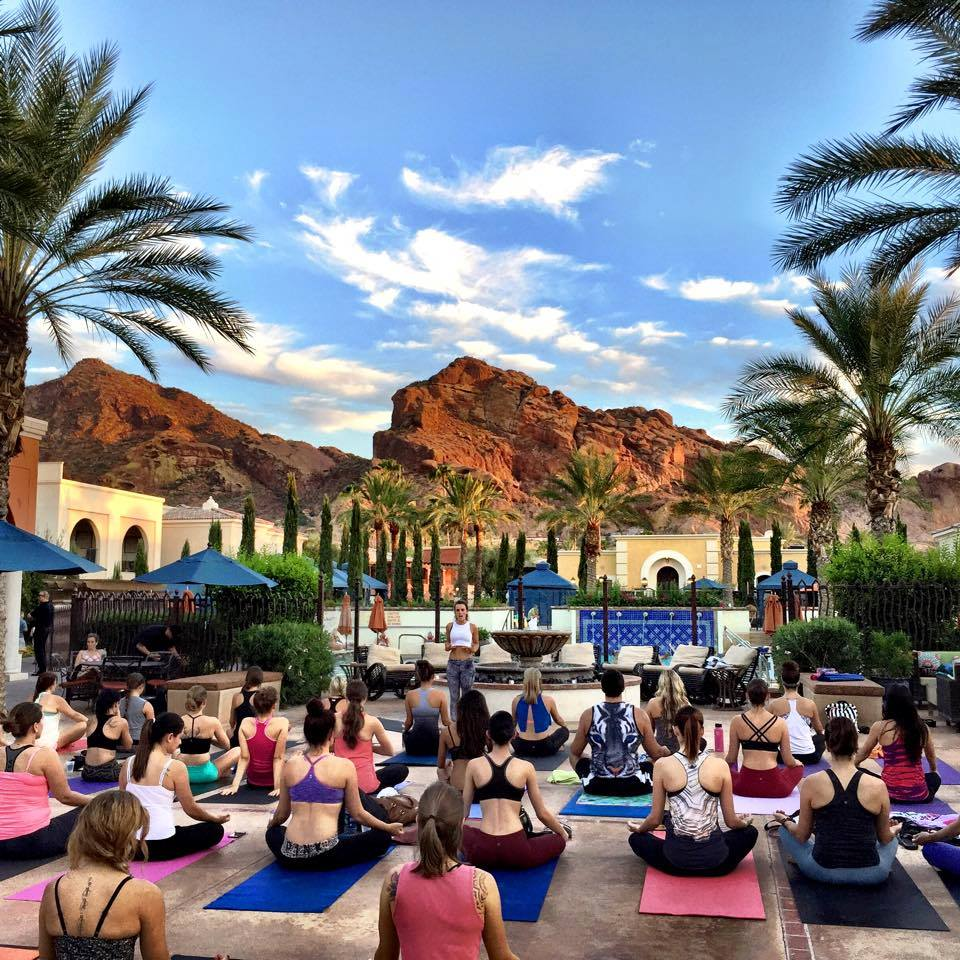 Goddess Yoga at Omni Montelucia Resort & Spa. Photo: Cynthia Sassi
