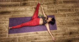 Yoga Poses of the Day: Supta Padangusthasana & Utthita Parsvakonasana