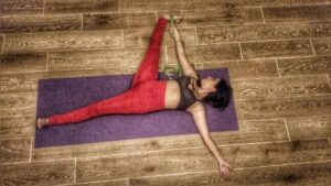 yoga poses of the day supta padangusthasana  utthita