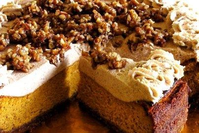 pumpkin praline cheesecake praline pumpkin cheesecake pumpkin praline ...