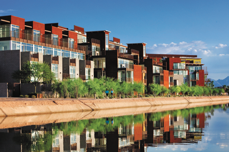 Safari drive offers scottsdale waterfront living for Scottsdale architecture firms