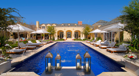 Pool Designs Arizona design In The Heart Of Paradise Valley Az Lies This Glamorous Colonial Style Estate Designed By Phx Architecture The 50 Foot Indigo Blue Tiled Lap Pool Is