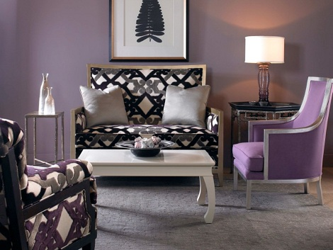 aubergine and grey living room home at la maison color color color 20911