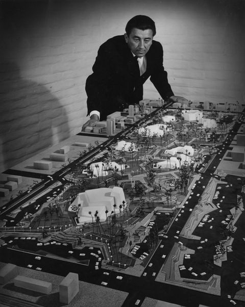 Bennie Gonzales with model of Civic Center. Photo Scottsdale Historical Society (002).jpg
