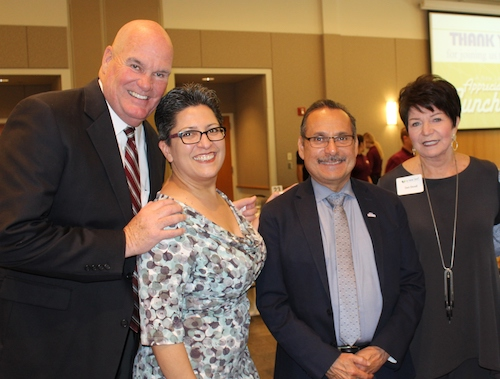 CEO Micheal Hughes, Past Board Chair Deanna Villanueva Saucedo, Past Board Member Vice Mayor David Luna, Board Member Deb Duvall.JPG