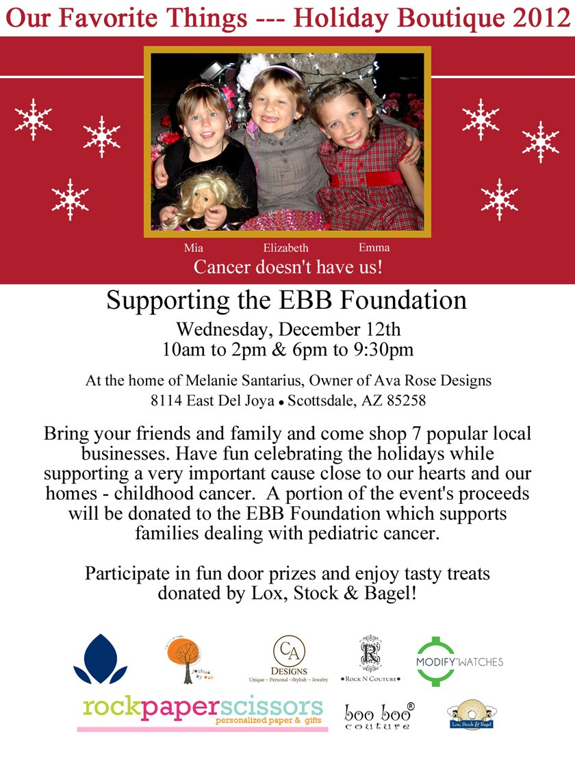 EBB holiday flier