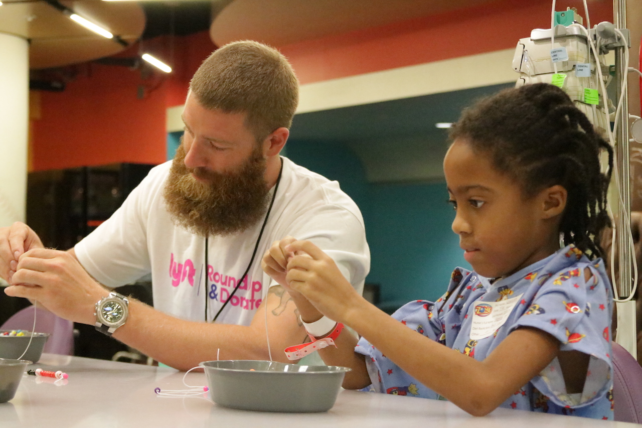 Archie Bradley Makes Baseball Necklaces with PCH Patient