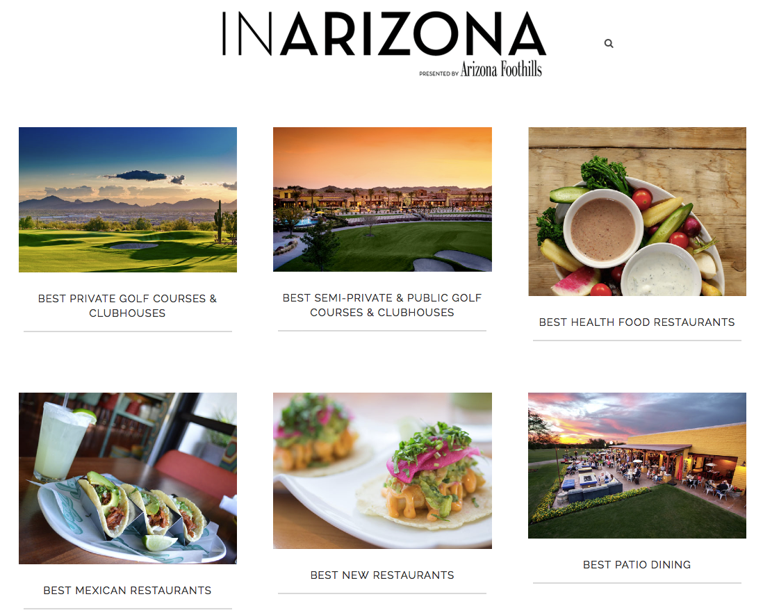 InAZ homepage