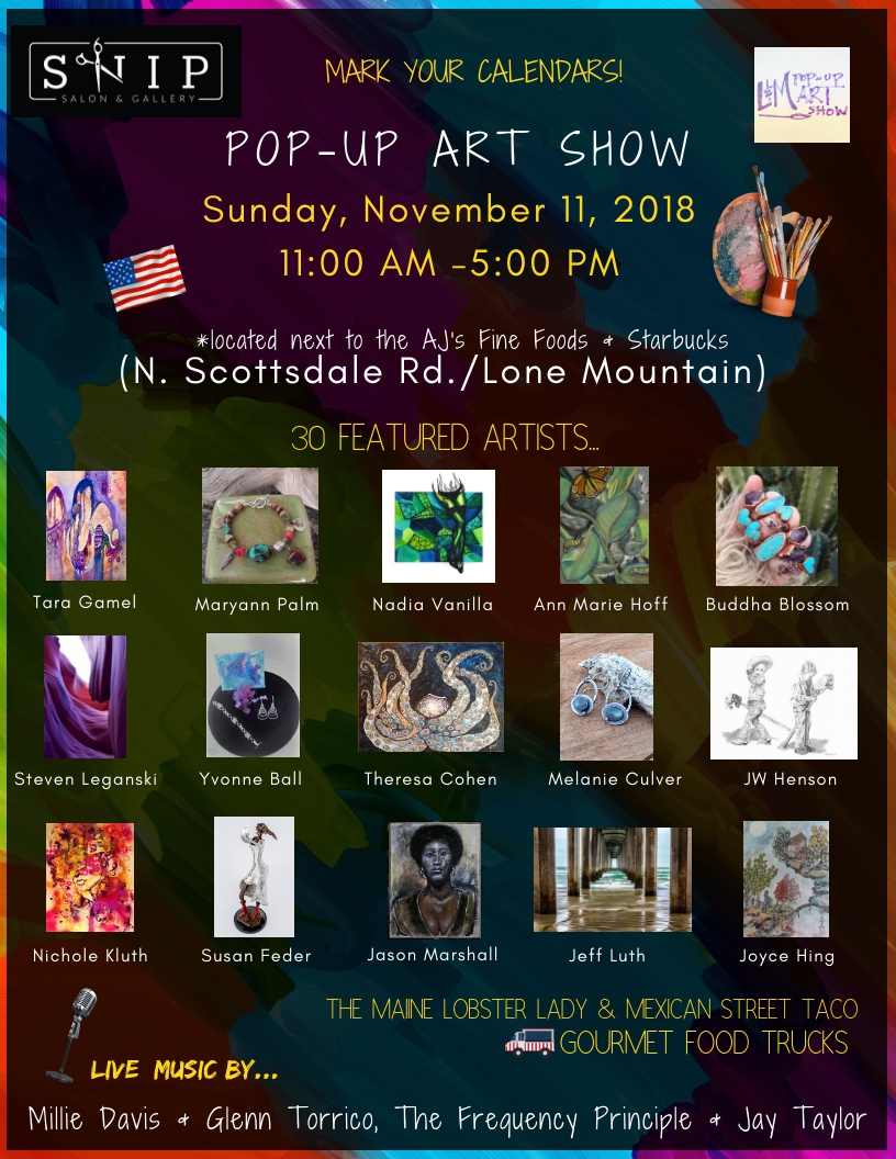 L m pop up art show celebrates veteran s day weekend for Local craft fairs near me