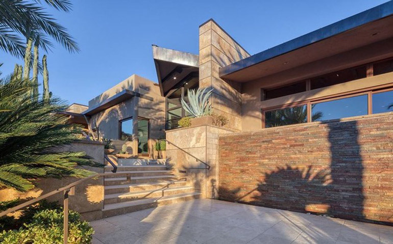 Paradise Valley,  Hillside transitional-contemporary home at the base of Mummy Mountain offers expansive views and abundant natural light, $4,925,000, Walt Danley Christie's International Real Estate.jpg