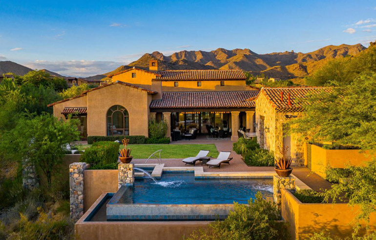 Scottsdale, Enjoy mountains, captivating sunsets and city lights from this gorgeous single level home, located within the prestigious Silverleaf community, $3,615,000.jpg