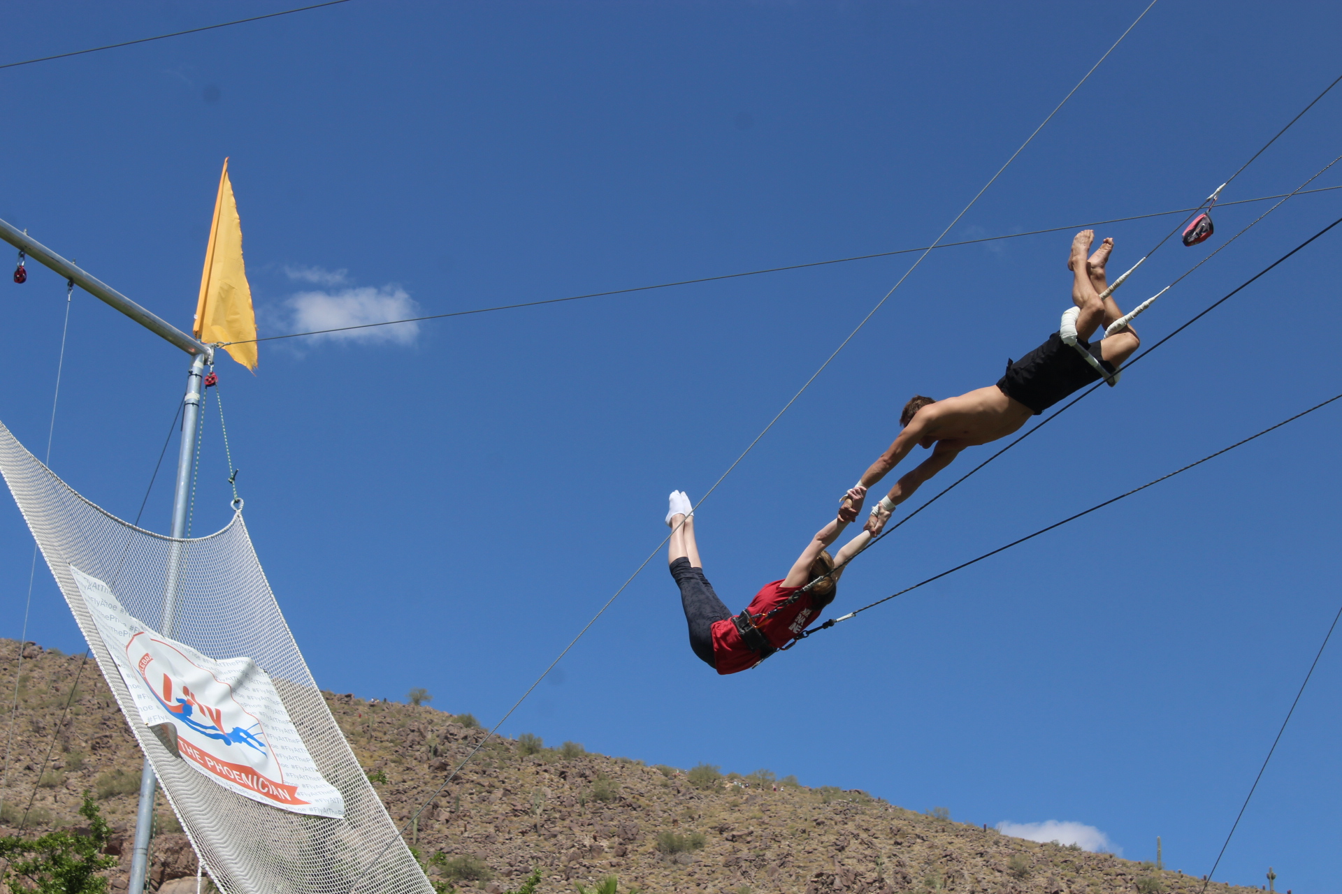 Taylor Seely AZ Foothills Intern Student of iFly Trapeze at The Phoenician