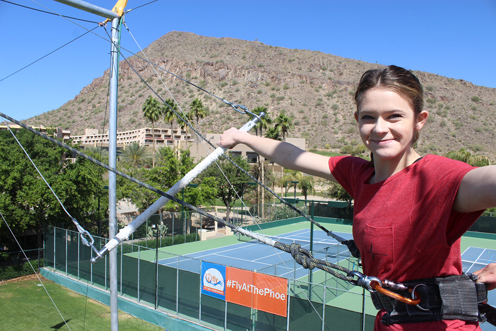 Taylor Seely AZ Foothills Intern Student of iFly Trapeze at The Phoenician3