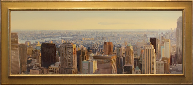 The City at Dusk New York City 40 x 90 framed 2017 $19000.jpg
