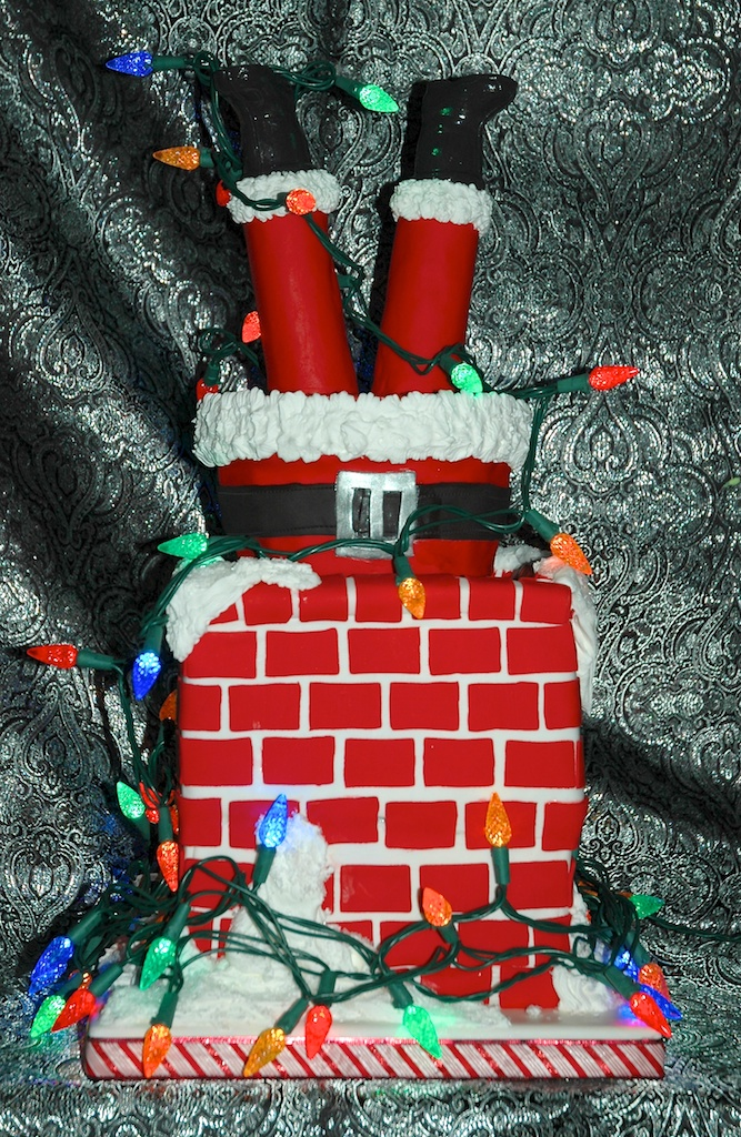 Sweet treats for a sweet new year page two Santa stuck in chimney cake