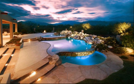 Award winning patio pools spas for Pool design tucson