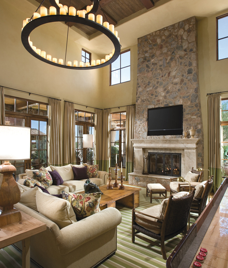 Astonishing Mediterranean Style Living Room