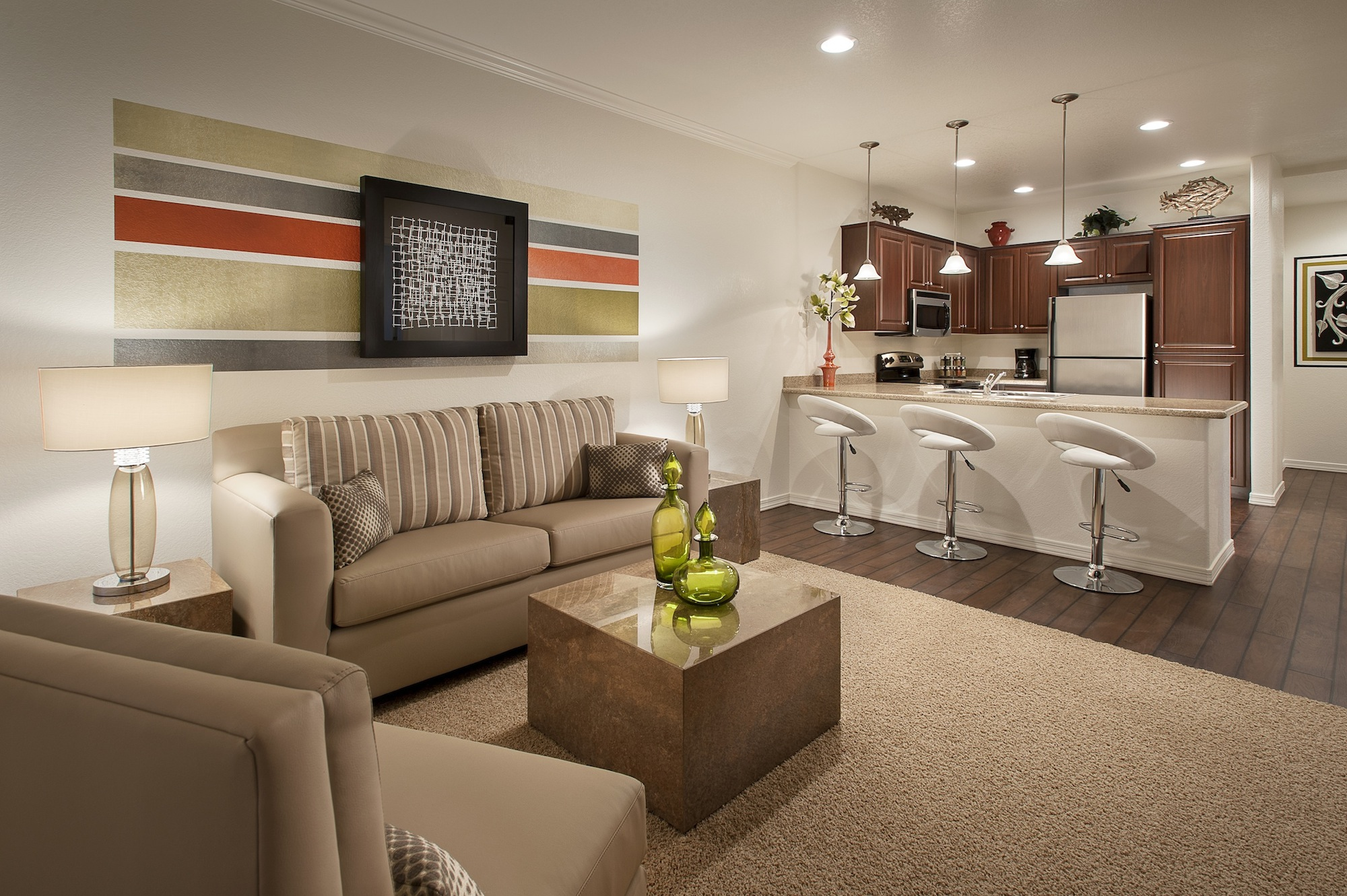Luxury apartment of the month in chandler parcland crossing for Living in a model apartment