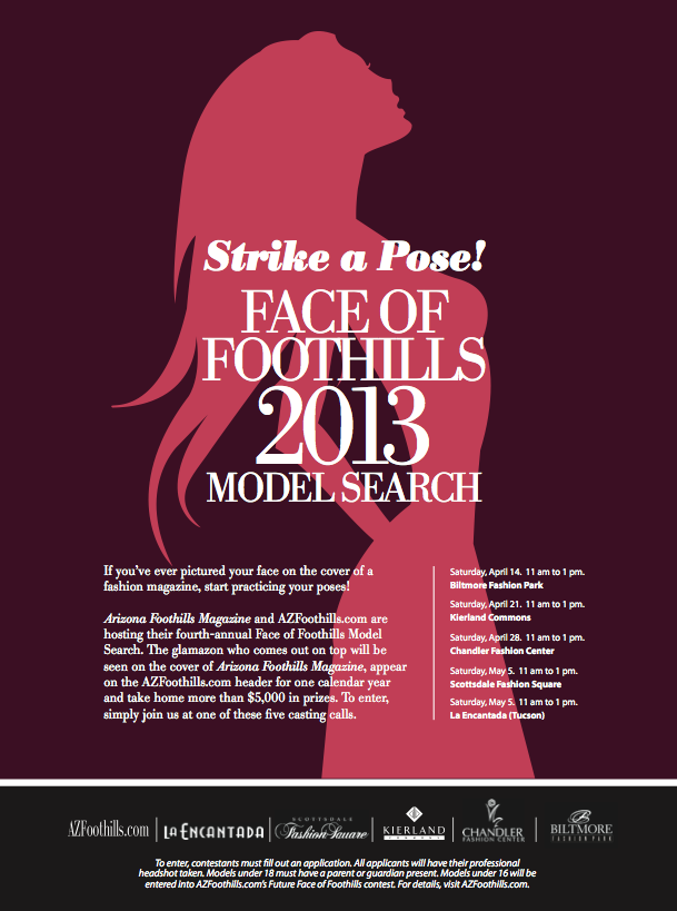 Successful 2013 Face Of Foothills Casting Call