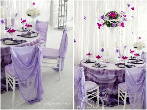 High fashion debut linens strike a pose for Table design for debut