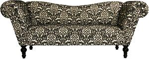 Wedding d cor to die for lounge furniture for Black and white damask chaise lounge