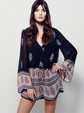 Free People Romper Spring Training game style