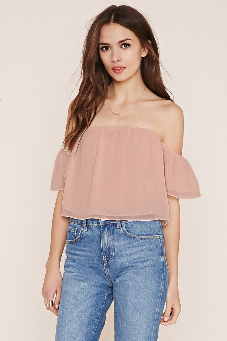 forever 21 over the shoulder top spring training game style