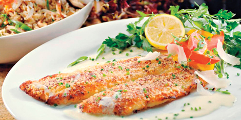 Wildfish seafood grille lemon parmesan sole for Sole fish recipes