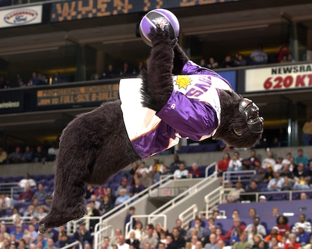Flip Dunk Gorilla Backwards Dunk