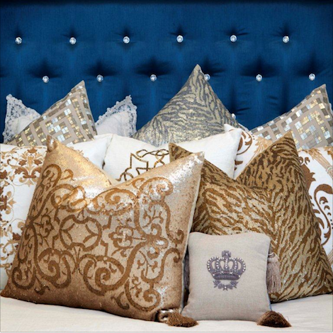 Home At La Maison Pillow Talk Inspiration Bling Decorative Pillows