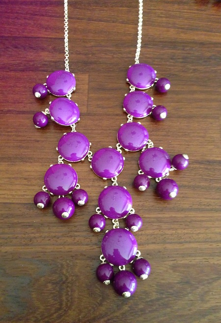 Allison Lauren Big Purple necklace