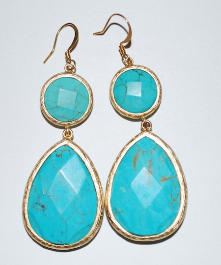 Allison Lauren Blue Dangle Earrings