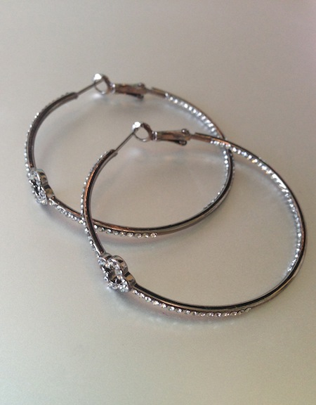 Allison Lauren Clover Hoop Earring