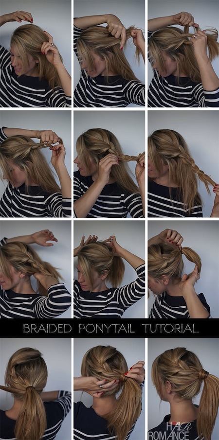 Braiding Hair Into a Ponytail Hair-romance-easy-braided