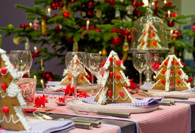 new year christmas table tableware trees sweets treats 35998 3980x2730