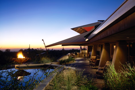 Vern Swaback personal home Skyfire in Scottsdale.  Swaback was a FLW apprentice. Photo Swaback Partners