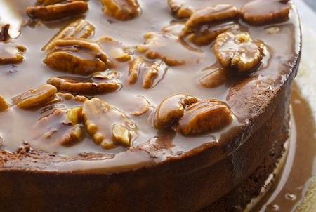 Recipe Caramel Chocolate Pecan Souffle Cake