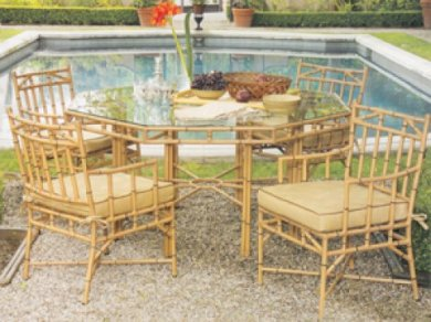 For A Quick Way To Dash Of Hollywood Regency In Your Life Try The Chelsea Set By Terra Patio Furniture Teak Outdoor Is Roachable But