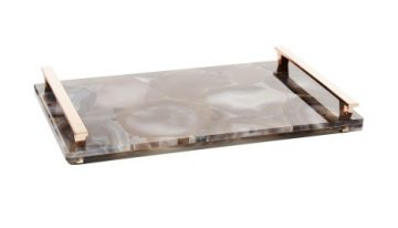 Stone Tray In Tan Banded Agate, $495