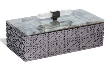 Rectangle Filigree Box In Labradorite, $225