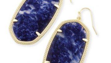 Danielle Earrings In Blue Sodalite, $75