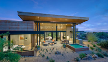 Interior Design Inspo of the Week: Desert Mountain Home Combines Natural Materials and Metals by Est Est Scottsdale