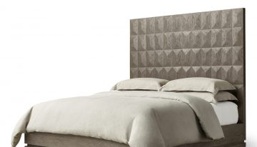 Geometric Platform Bed