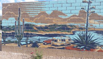 New Peoria neighborhood unveils 125-foot mural