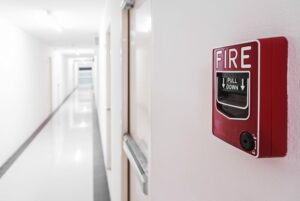 Fire Alarm near door fire exit door