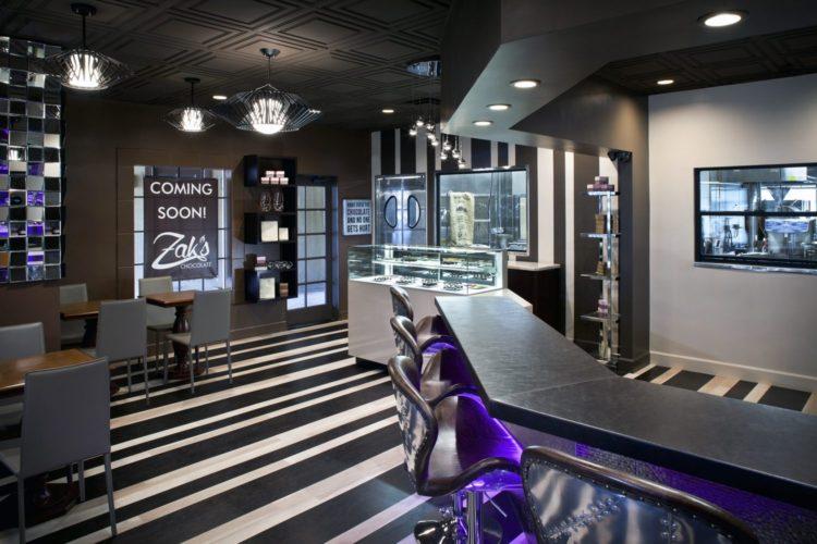 Zak's Chocolat Shop, Scottsdale,  Esther Boivin Interiors. Photo Tony Hernandez.